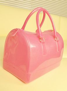 Bags Luggage Fulla Furla Candy Bag Colored Jelly Boston