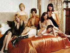 The Cast of the L Word: from left to right: Laurel Holloman, Leisha Hailey, Jennifer Beals, Katherine Moennig, Erin Daniels and Pam Grier