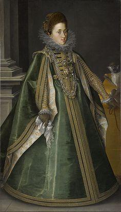 """""""Konstanze von Habsburg, Archduchess of Central Austria, Later Queen of Poland"""", Joseph Heintz the Elder, 1604; CAI 1982.127"""