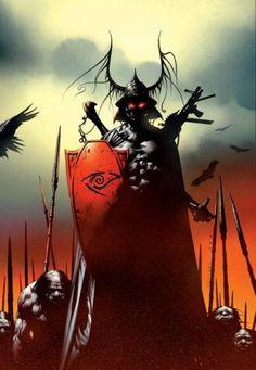 Battle of Jericho Hill, Jae Lee Dark Tower Art, The Dark Tower Series, Dark Tower Tattoo, La Tour Sombre, Jae Lee, Comic Artist, Comic Books Art, Marvel Comics, Illustration