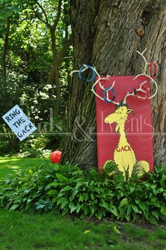 "Dr. Seuss Party idea from ""One Fish Two Fish"" - Ring the Gack Game"