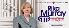 Rika Murray for Albany County Family Court Judge, design by Blue State Strategies