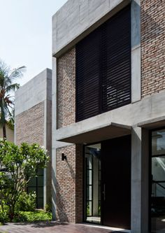 Brick and concrete house