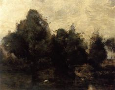 Near Arras, the Banks of the Scarpe, 1860-1865 Camille Corot