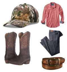 """""""Cowboy"""" by kayla-wilburn-1 on Polyvore featuring Banana Republic, Uniqlo, Under Armour, Ariat, men's fashion and menswear"""