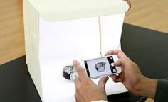 A foldable and portable photo studio for shooting product pix.
