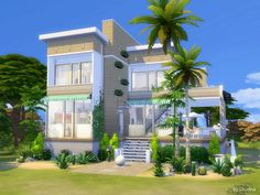 The Sims Resource: Beach Life house by Lhonna • Sims 4 Downloads