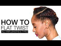 "How To Flat Twist | ""Fix It Jesus"" Quick Do | askpRoy - YouTube"