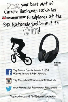 "|  HEADPHONE GIVEAWAY  |  Competition details....  #SPYsnapGIVEAWAY #BMXnationalChampionships  Remember to tag ""@""  Monster Products Australia & NZ    