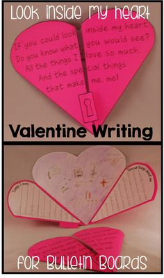Valentine Writing Activities by The Teacher Gene Valentines Day Activities, Holiday Activities, Valentine Day Crafts, Writing Activities, Valentine Heart, Grief Activities, Valentines Day Bulletin Board, Teaching Resources, Classroom Crafts