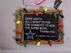 dallas cowboys christmas | Dallas Cowboys NFL Football Christmas Tree Ornament Resin Chalkboard ...