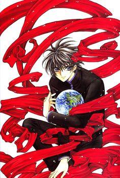CLAMP, X, X Infinity, Shirou Kamui, Red, Earth