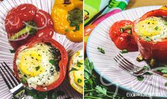 Gefüllte Paprika mit Ei