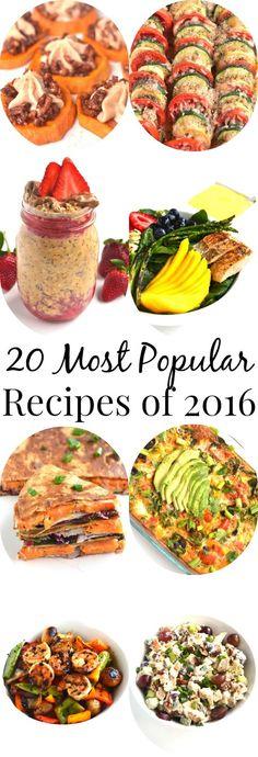 20 Most Popular Recipes of 2016 Healthy Foods, Healthy Recipes, New Things To Try, Most Popular Recipes, Restaurant Recipes, Copycat Recipes, Diy Food, Cupcakes, Healthy Food