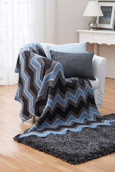 Ravelry: Winter - Zig Zag Afghan pattern by Bernat Design Studio