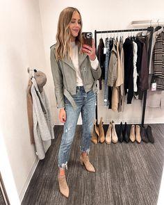 Fashion Jackson Nordstrom Anniversary Sale 2021 allsaints leather jacket green 3