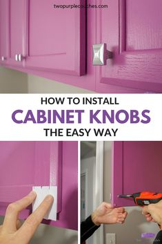 Learn how to install cabinet knobs in minutes with this simple homemade cabinet hardware template. Kitchen Cabinet Hardware, Kitchen Cabinet Design, Cabinet Handles, Homemade Cabinets, Diy Cabinets, Kitchen Cabinets, Lila Sofa, Sofas, Interior Decorating Tips