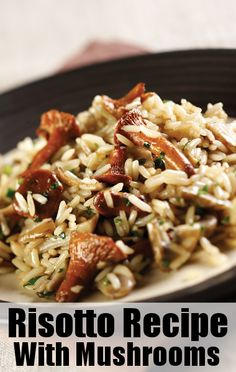 Mario Batali's risotto with mushrooms and vin santo is an example of excellent Italian cuisine.