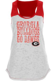 Product: University of Georgia Bulldogs Womens Slimfit Burnout Tank
