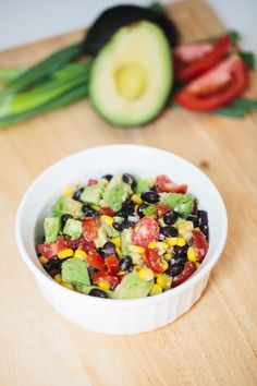 New summer snack staple: Avocado, Corn and Black Bean Salsa! #recipes