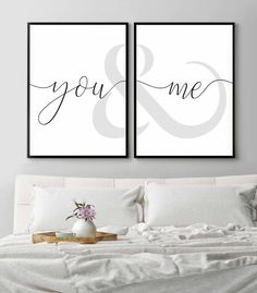 Set of 2 PrintsYou and me signBedroom quotesAbove bed Bedroom Art Above Bed, Above Bed Decor, You And Me Sign, Bedroom Quotes, Bedroom Prints, Minimalist Bedroom, Diy Bedroom Decor, Home Decor, Decorating Your Home