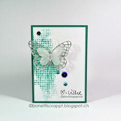 Geburtstagskarte mit Schmetterling  #sweetstamperschallenge