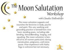Moon Salutation Moon Salutation, Standing Poses, Lunges, Yoga, Acro