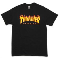 A skate-industry staple, Thrasher Skate Magazine is the leader in skate culture journalism. Thrasher has been doin' it for decades, progressing the skateboarding one issue at a time. Now it's your turn to rep that Thrasher cred with the Thrasher Flame T. Tee Shirt Trasher, Shirt Outfit, School Outfits, Outfits For Teens, Cute Outfits, Pull Trasher, Thrasher Outfit, Thrasher Flame, Thrasher Magazine