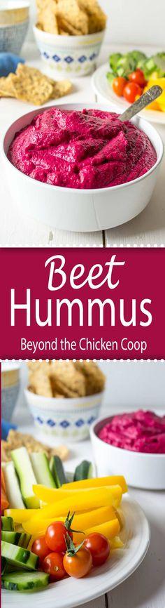 Stunningly beautiful  and extra delicious beet hummus.  via @Beyondthecoop