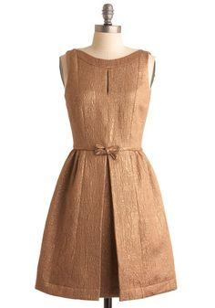 Bronze dress.