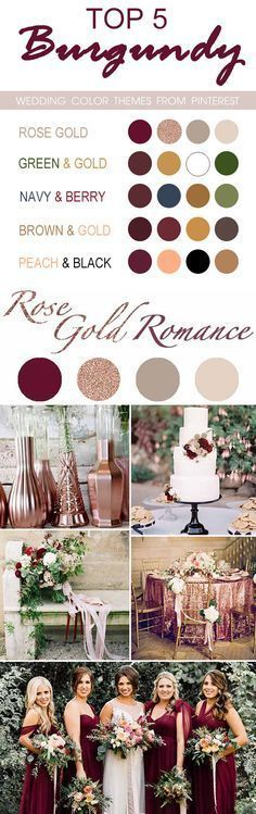 Image result for green and rose gold burgundy wedding