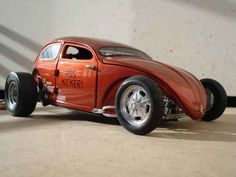 vw hot cars | Volkswagen Kafer Hot Rod cox ass kicker 56 Burago diecast model car 1 ...