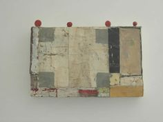 Mirco Marchelli, Giardino all'italiana, 2014 | canvas, tempera, buttons | 28x50x5cm