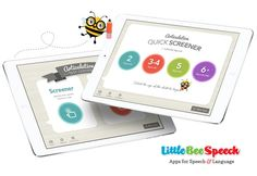 Mommy Speech Therapy: New Articulation Screening/Assessment Apps for Parents and SLPs from Little Bee Speech. Pinned by SOS Inc. Resources. Follow all our boards at pinterest.com/sostherapy/ for therapy resources.