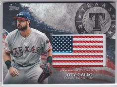2018 Topps Series 2 Independence Day Patch Card Joey Gallo Texas Rangers  #TexasRangers Baseball Cards For Sale, Flag Patches, First Class Shipping, Texas Rangers, Independence Day, Diwali
