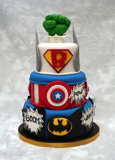 "I would make this all Avengers themed #for_my_beau. I love ""HULK Smash"" at the top, that's awesome!!!"
