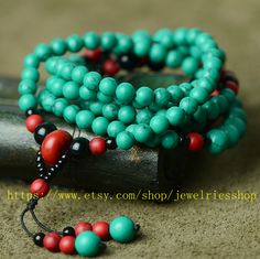 Tibetan Buddhism Natural Turquoise I love love love this!!! Want it! *** I would like to make a mala out of turquoise beads