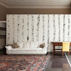 Realistic Birch Trees Set - Wall Decal