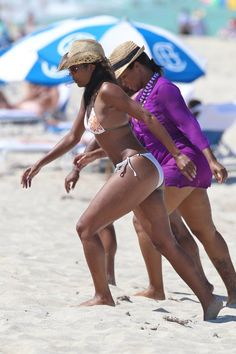 Savannah Brinson & Gabrielle Union hit the beach in Miami