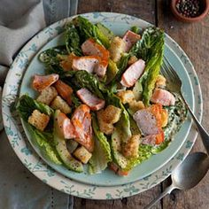 Pan fried salmon salad with a caper mayonnaise - Drizzle and Dip Seafood Salad, Fish Salad, Salmon Salad, Salmon Recipes, Fish Recipes, Seafood Recipes, Snack Recipes, Dinner Recipes, Salad Bar