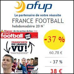 #missbonreduction; Economisez 37 % sur l'abonnement au magazine FRANCE FOOTBALL chez Ofup.http://www.miss-bon-reduction.fr//details-bon-reduction-Ofup-i349-c1830307.html