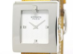 Polished #HERMES Belt Watch Steel Leather Quartz Ladies Watch BE1.210 (BF107565): All of #eLADY's items are inspected carefully by expert authenticators who have years of experience. For more pre-owned luxury brand items, visit http://global.elady.com