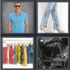 12 best 4 pics 1 word 7 letters images on pinterest calligraphy 4 pics 1 word man with blue polo shirt jeans and heels clothes rack expocarfo Images