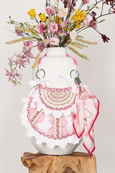 ITEM 6.5 ~ MAGNOLIA | Isobel Badin Bee Do, Magnolia Flower, Craft Bags, Plant Species, Pink Quartz, Pink Opal, White Beads, Silk Flowers, Lilac