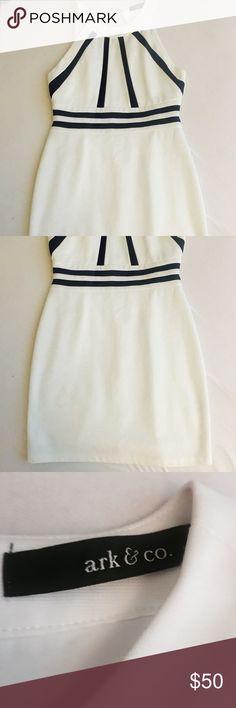 Ark & Co boutique white halter dress Boutique fitted white halter dress - never worn Ark & Co Dresses Midi