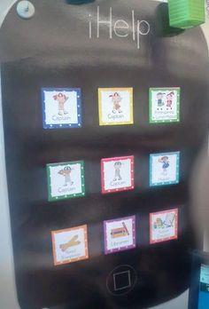 iPad classroom jobs! Cute!!  Use next year when we go 1:1 with iPads!