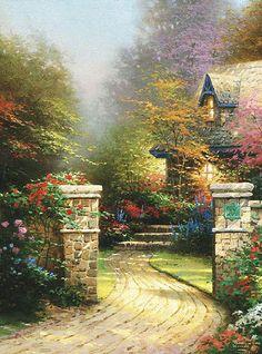 Thomas Kinkade Rose Gate
