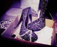 LOVE these purple glitter shoes!need these some how my fave color is purple but i dnt have purple heels! Purple Stuff, Purple Love, All Things Purple, Purple Rain, Light Purple, Dark Purple, Glitter High Heels, Black Glitter, Sparkly Shoes