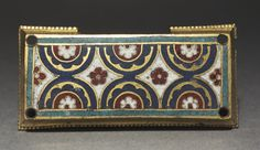 Plaque, probably from a Reliquary Shrine, c. 1180-1190  Germany, Rhine Valley, Cologne, Romanesque period, 12th century  gilded copper, champlevé and cloisonné enamel