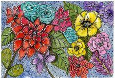 Art du Jour by Martha Lever: Doodle Flowers in Greenville
